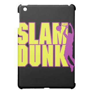 slam dunk text yellow and purple case for the iPad mini
