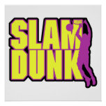 slam dunk text yellow and purple print