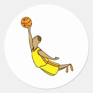 Slam Dunk Yellow Orange Boy Classic Round Sticker