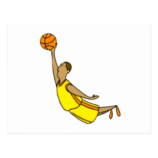 Slam Dunk Yellow Orange Boy Postcard