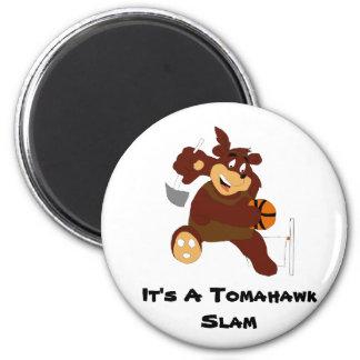 Slam Dunking Cartoon Bear Fridge Magnets