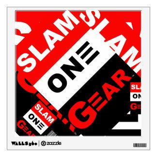 SLAM ONE GEAR WALL DECAL