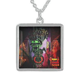 SLAM ONE INDUSTRIES ZOMBIE FRIES SILVER NECKLACE
