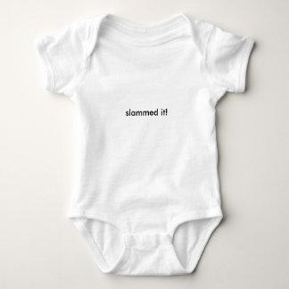 slammed it baby bodysuit