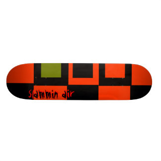 Slammin Air Red and Black Custom Skate Board