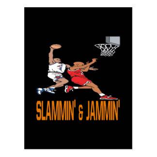 Slammin And Jammin Postcard