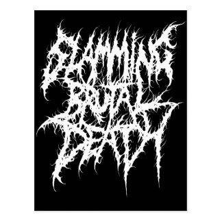 Slamming Brutal Death Metal Postcard
