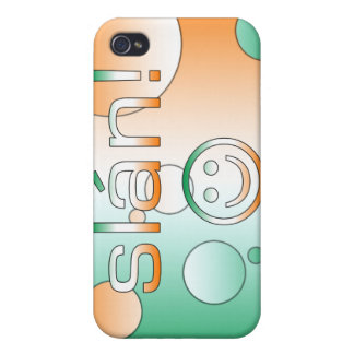 Slán! Ireland Flag Colors Pop Art Cases For iPhone 4