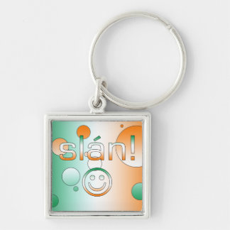 Slán! Ireland Flag Colors Pop Art Key Chains