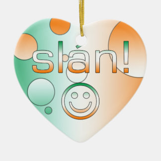 Slán! Ireland Flag Colors Pop Art Ornaments