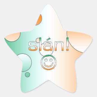 Slán! Ireland Flag Colors Pop Art Star Sticker