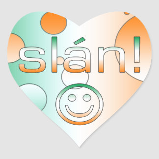 Slán! Ireland Flag Colors Pop Art Stickers