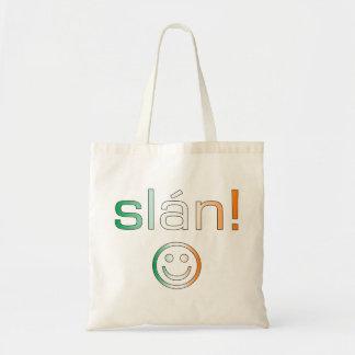 Slán! Ireland Flag Colors Tote Bag