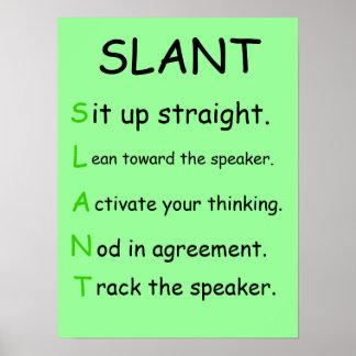 SLANT Class Poster