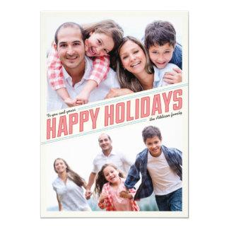 Slanted Happy Holidays 2 Photo Card