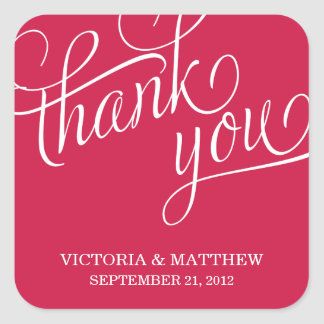 SLANTED | WEDDING THANK YOU LABEL STICKERS
