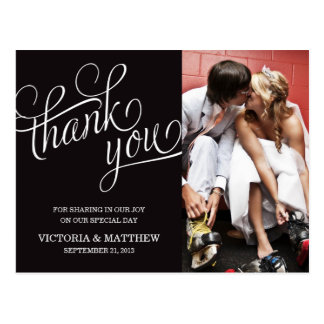 SLANTED | WEDDING THANK YOU POST CARD