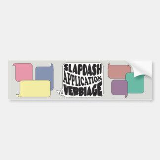 Slap App Verb Bumper Sticker
