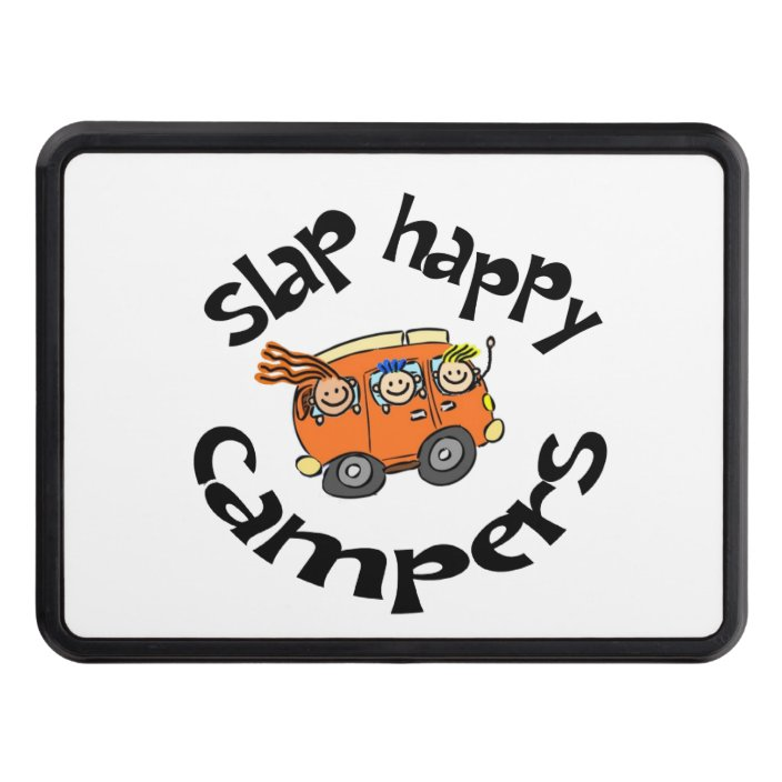 Slap Happy Campers Cartoon Hitch Cover Zazzle Com