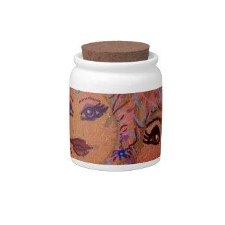 Slap Happy Smiley Tiley-Halloween Candy Jar