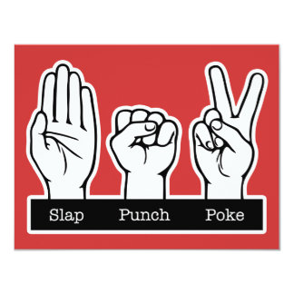 Slap, Punch, Poke Card
