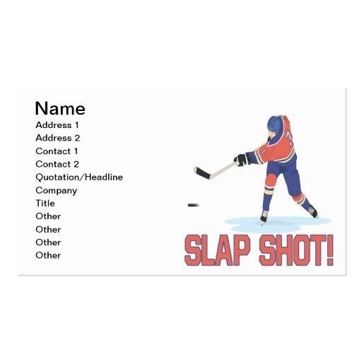 Slap Shot Business Card Templates