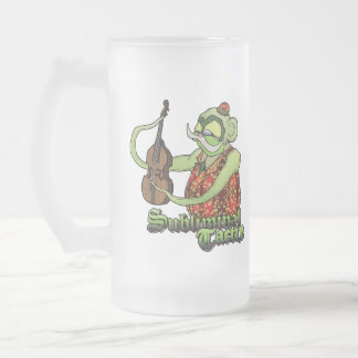 Slappa-da-Bass & DNA Strand Frosted Glass Beer Mug