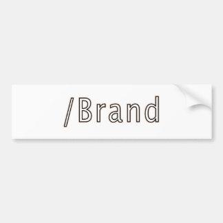 Slash Brand Logo Bumper Sticker