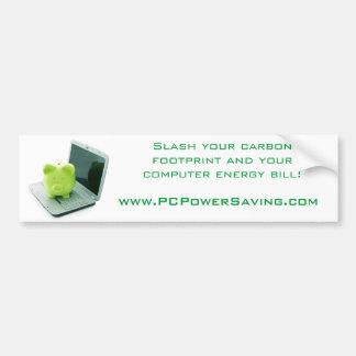 Slash your carbon footprint bumper sticker