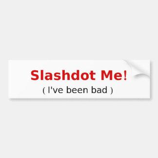 Slashdot yo etiqueta de parachoque