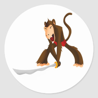 Slasher Monkey Classic Round Sticker