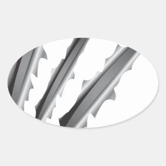 Slashes Oval Sticker