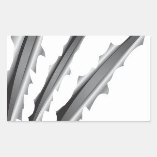 Slashes Rectangular Sticker