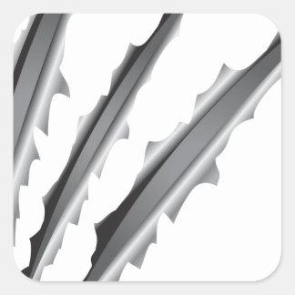 Slashes Square Sticker
