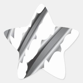 Slashes Star Sticker