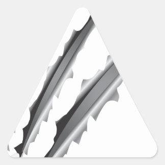 Slashes Triangle Sticker