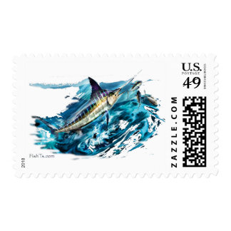 Slashing Marlin Jumping with Tuna Postage