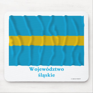 Śląskie - Silesia waving flag with name Mouse Pads