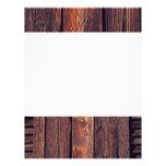 Slat Pattern Wood Planks Custom Letterhead