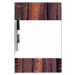 Slat Pattern Wood Planks Dry Erase Boards