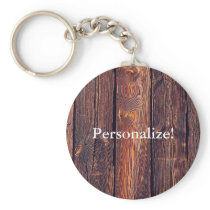 Slat Pattern Wood Planks Keychain