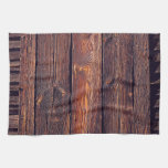 Slat Pattern Wood Planks Kitchen Towel