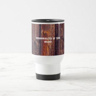 Slat Pattern Wood Planks Travel Mug