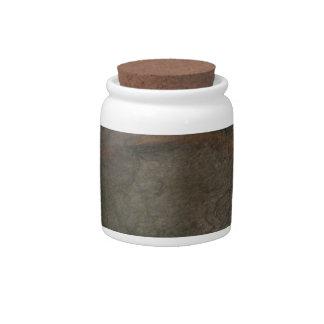 Slate 5 Decorative Ceramic Widemouth Jar With Lid Candy Dish