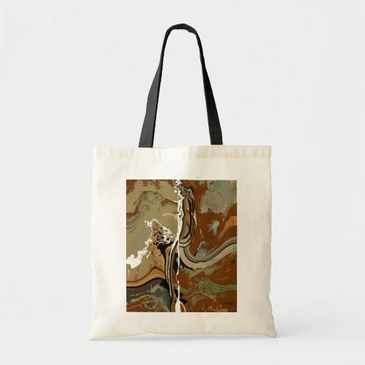 Slate - Abstract Art Budget Tote Bag