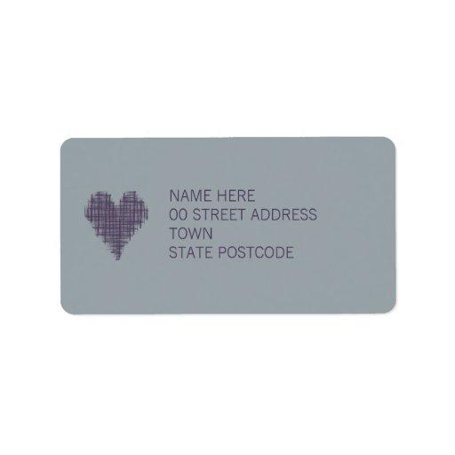 Slate Address Label