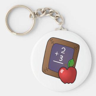 slate and apple key chain
