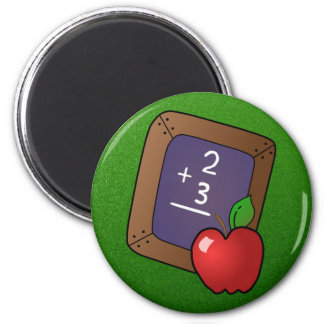 slate and apple magnet