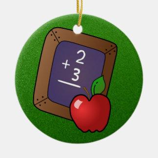 slate and apple ornament