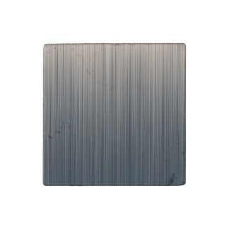 Slate and Cream Stripes Stone Magnet